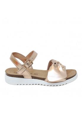 sandalo bambina fiocco cipria grunland