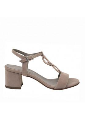 sandali tacco cinziasoft nude