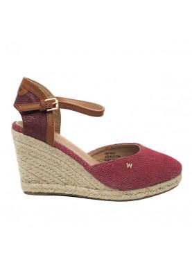 WL91570A sandalo zeppa corda rosso Wrangler