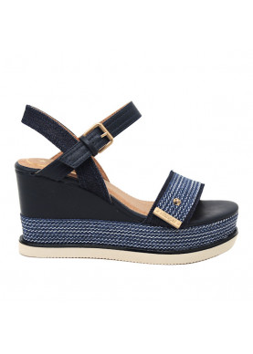 WL91630A sandalo zeppa blu Wrangler