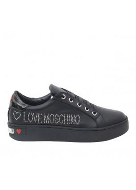 sneaker nera love moschino donna