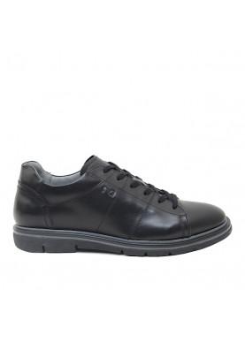 1160U scarpa uomo in pelle nera NeroGiardini