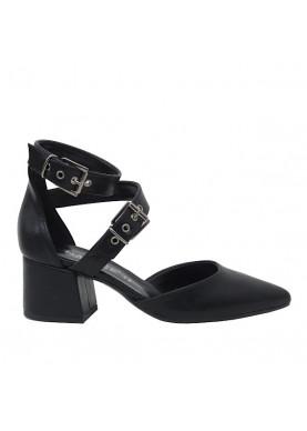 sandalo punta tacco basso donna